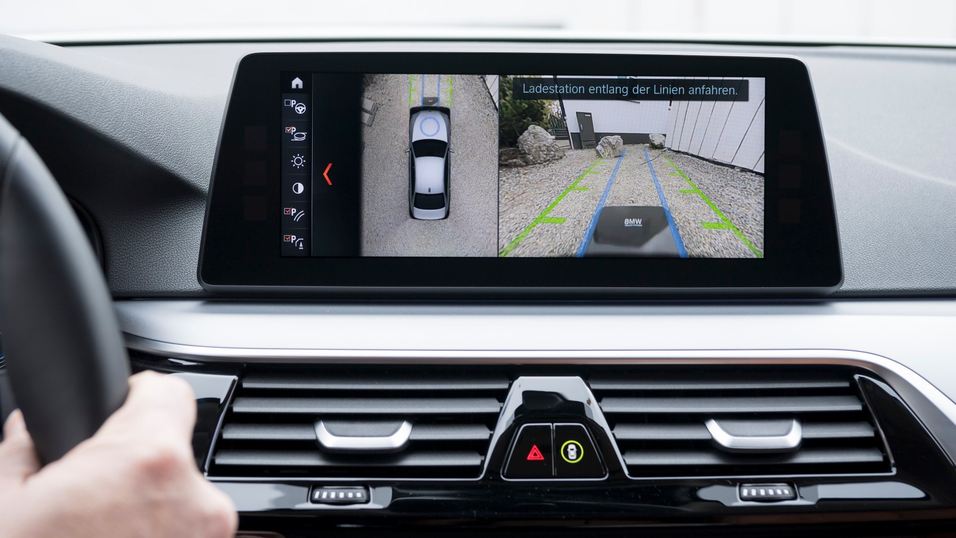 BMW 5-Series plug-in hybrid wireless charging system