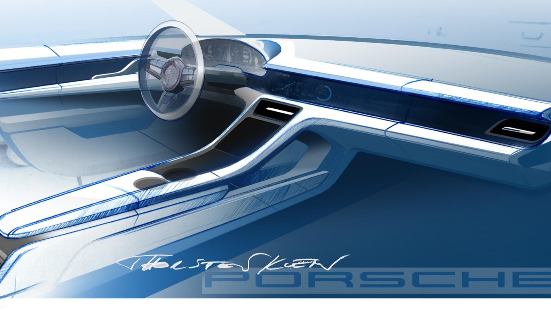 Porsche Taycan dashboard