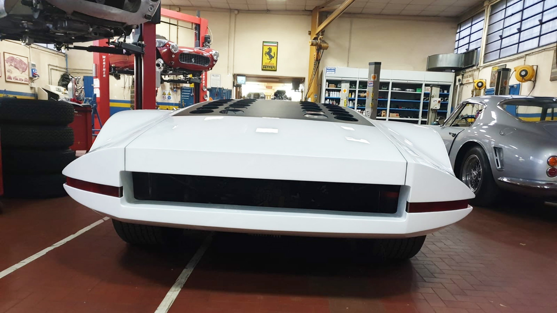Ferrari 512S Modulo concept after repairs to restore fire damage - Photo credit: James Glickenhaus