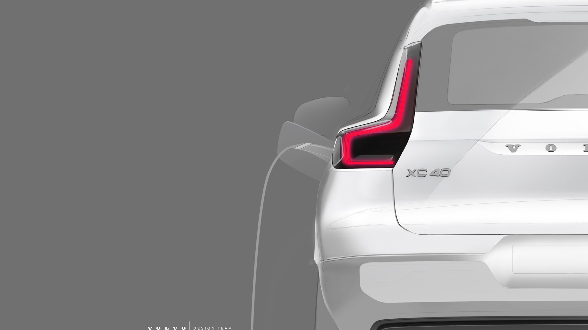 Teaser for electric Volvo XC40 debuting on October 16, 2019