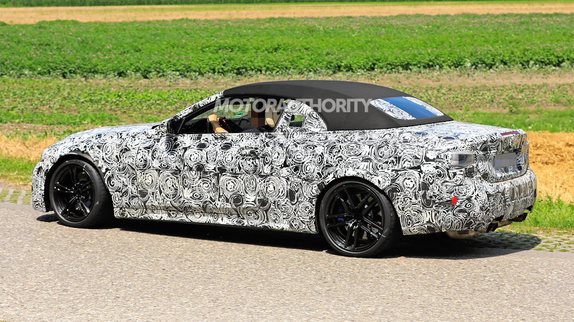 2021 BMW M4 Convertible spy shots - Photo credit: S. Baldauf/SB-Medien
