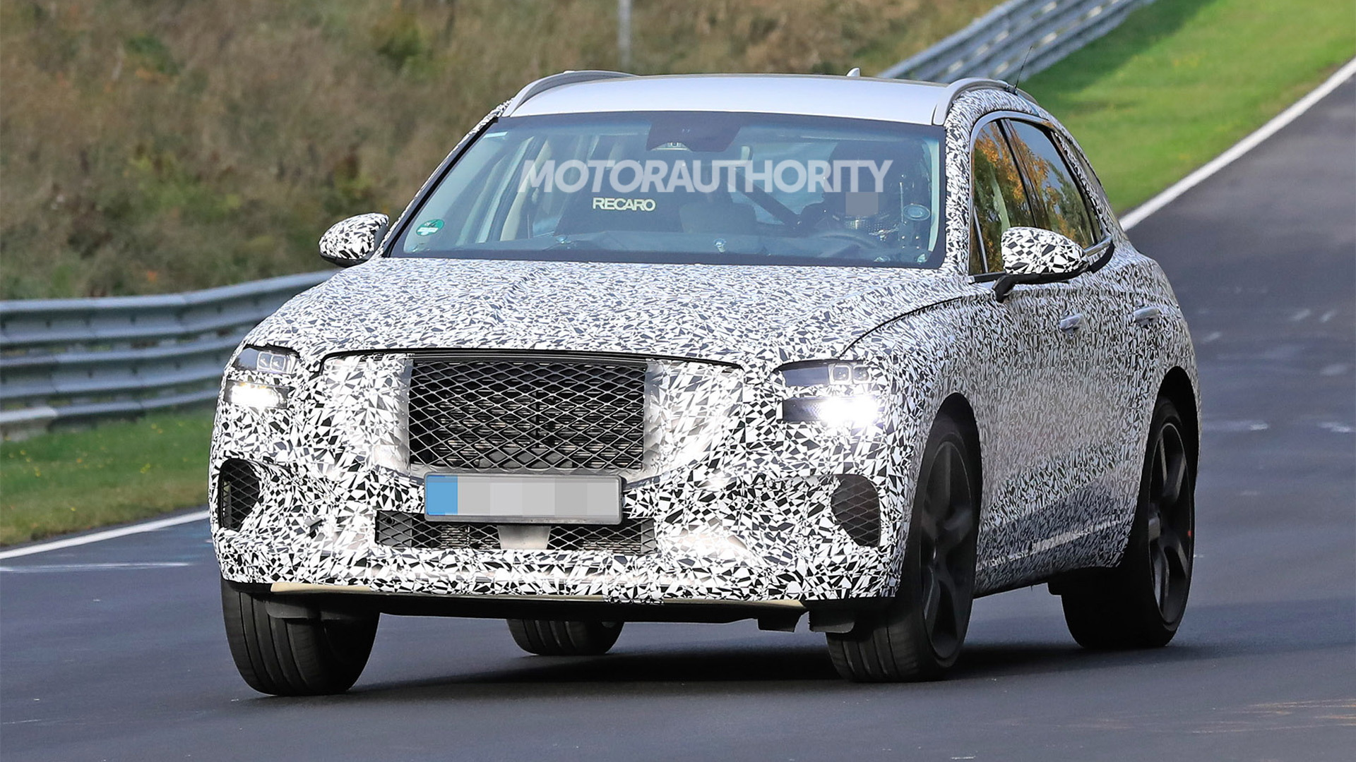 2022 Genesis GV70 spy shots - Photo credit: S. Baldauf/SB-Medien