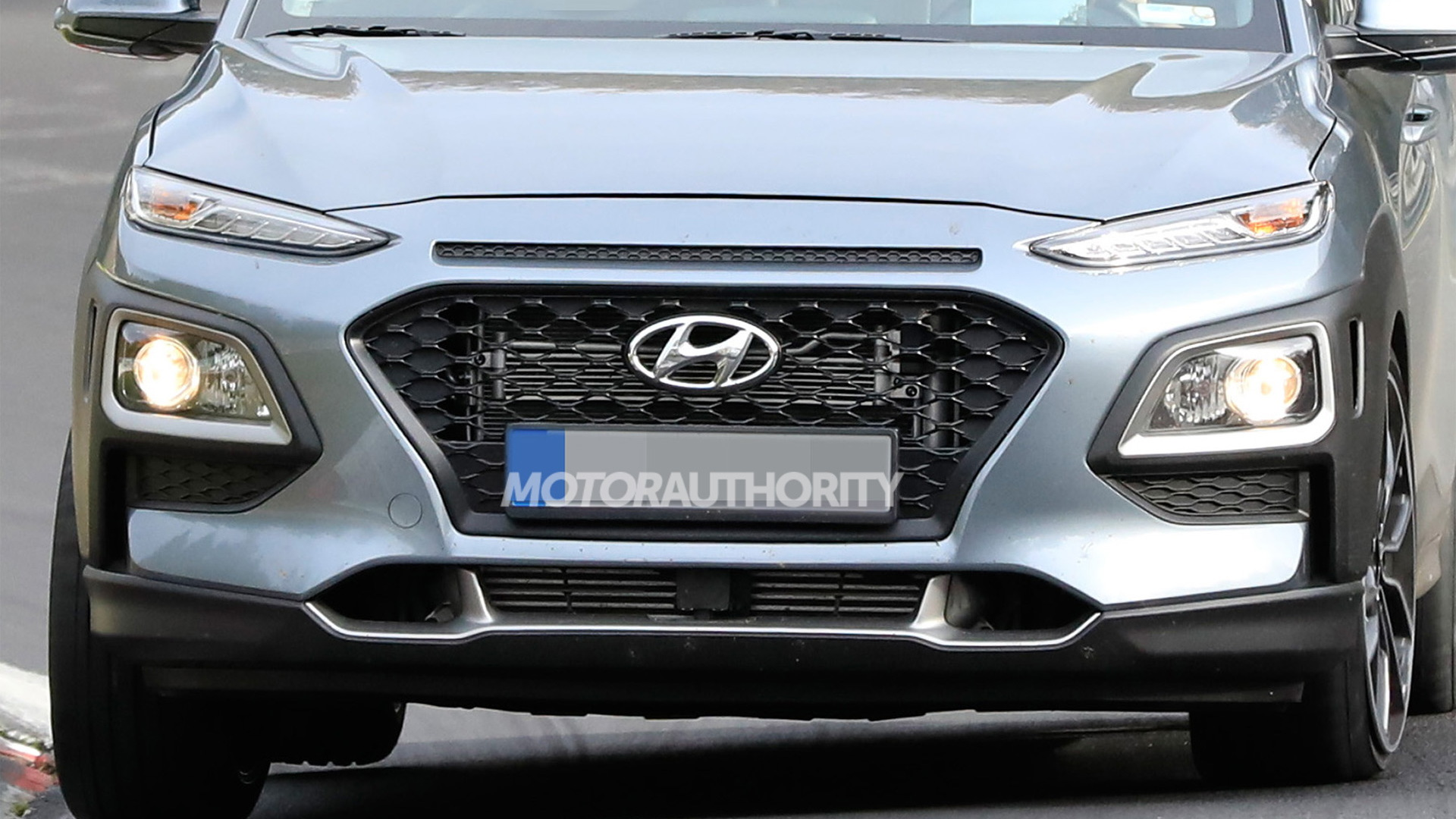2022 Hyundai Kona N test mule spy shots - Photo credit: S. Baldauf/SB-Medien