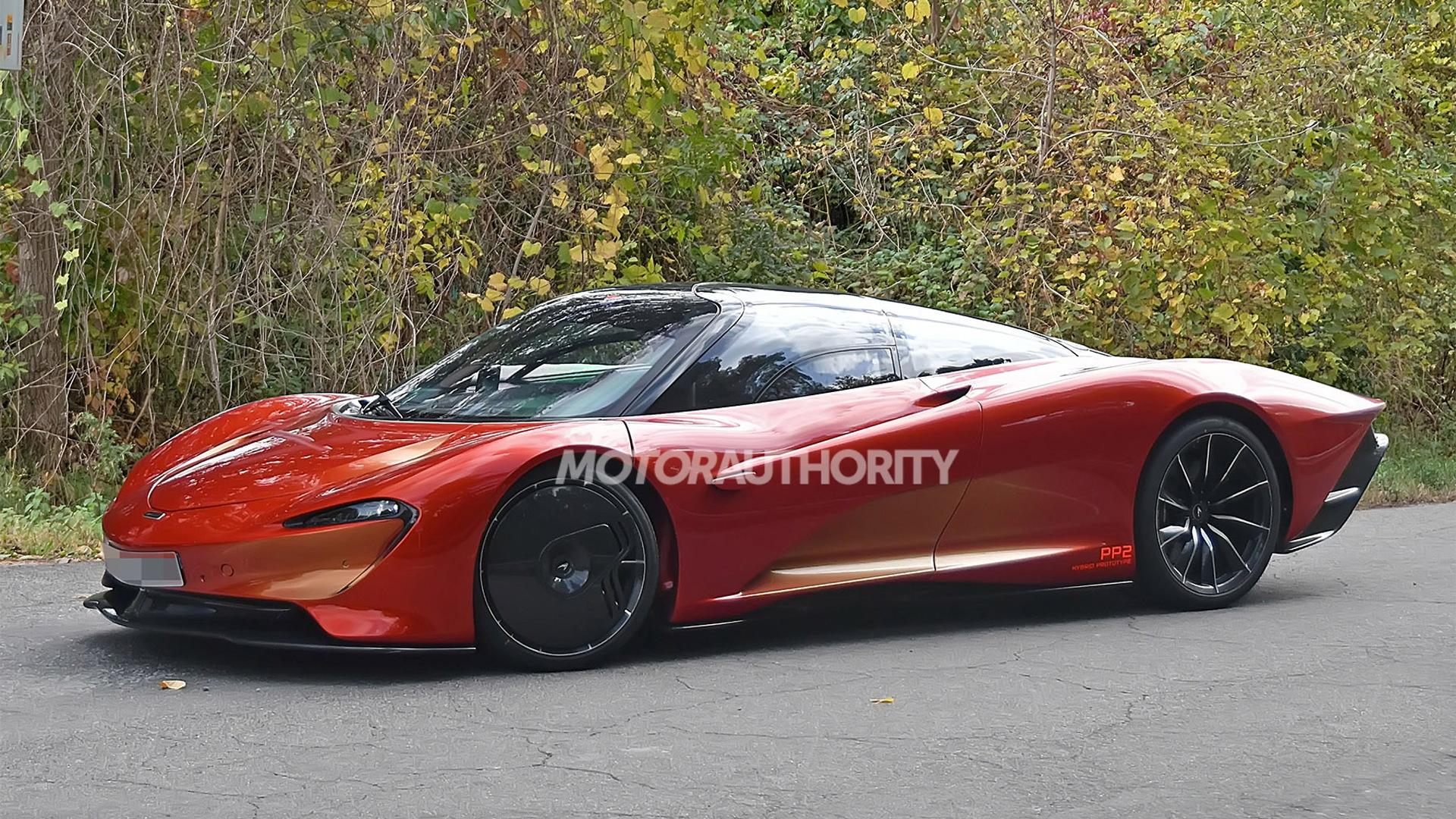 McLaren Speedtail PP2 prototype spy shots - Photo credit: S. Baldauf/SB-Medien