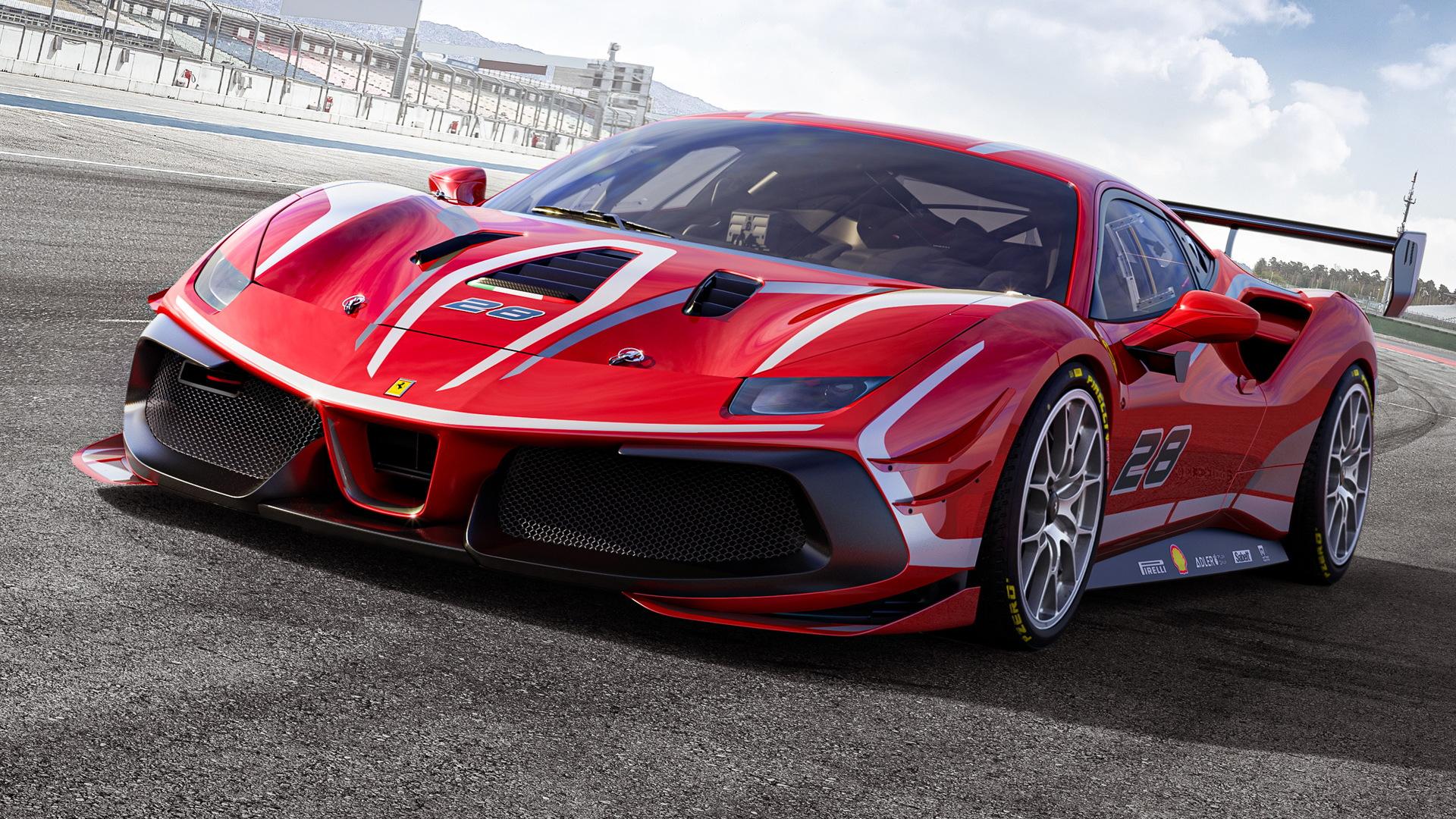 2020 Ferrari 488 Challenge Evo race car