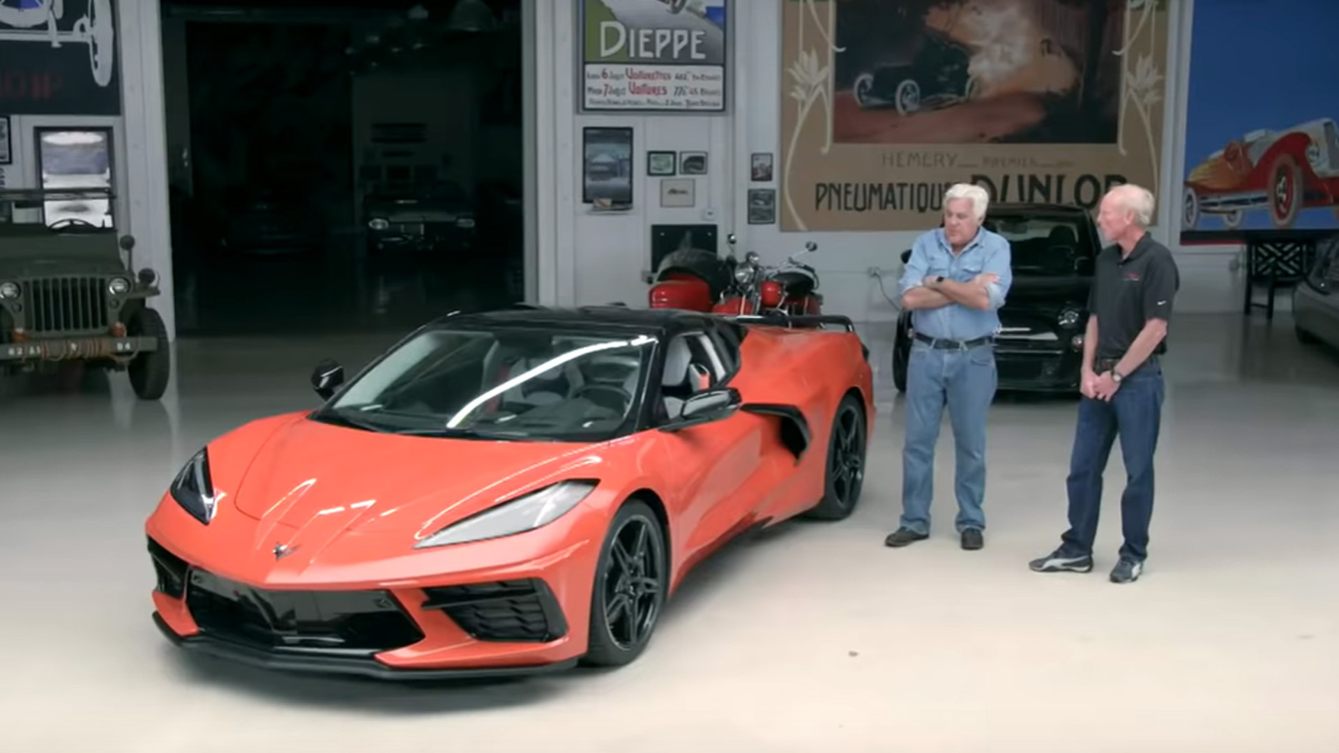 2020 Chevrolet Corvette Stingray Convertible at Jay Leno's Garage