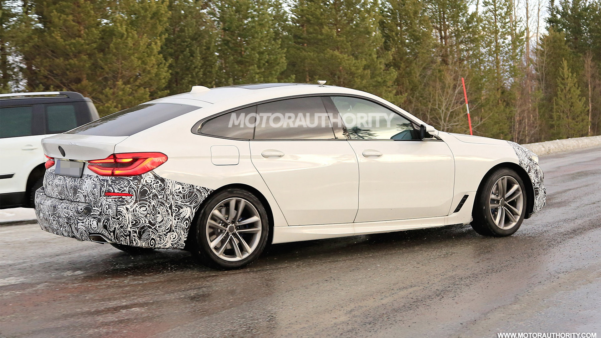 2021 BMW 6-Series Gran Turismo facelift spy shots - Photo credit: S. Baldauf/SB-Medien