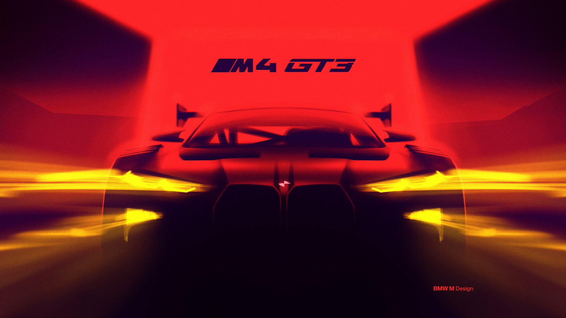 Teaser for 2022 BMW M4 GT3 race car