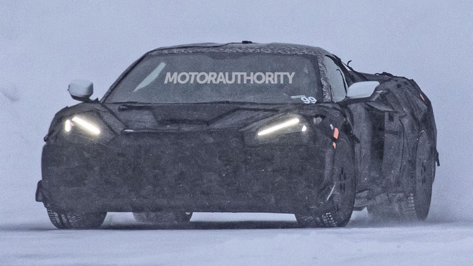 2022 Chevrolet Corvette Z06 spy shots - Photo credit: S. Baldauf/SB-Medien