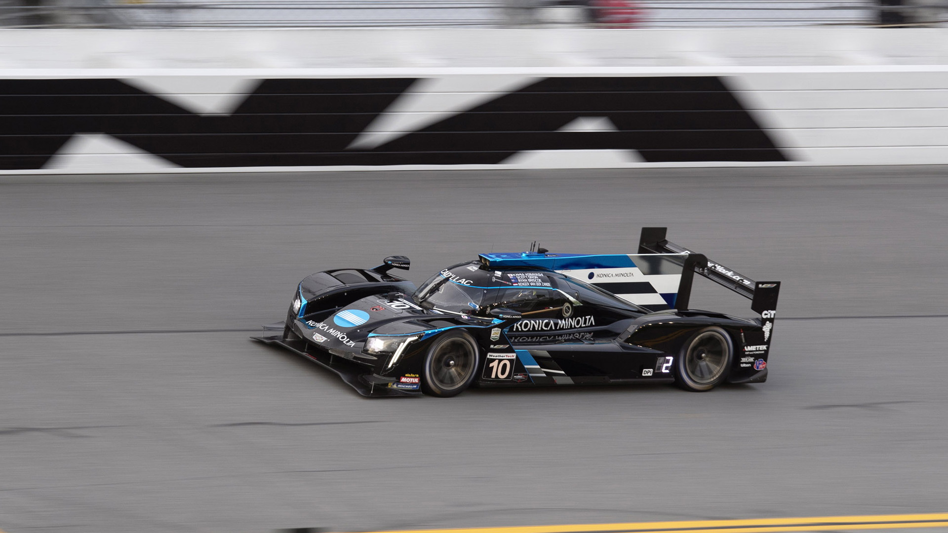 No. 10 Konica Minola Cadillac DPi-V.R of Wayne Talylor Racing at the 2020 Rolex 24 at Daytona