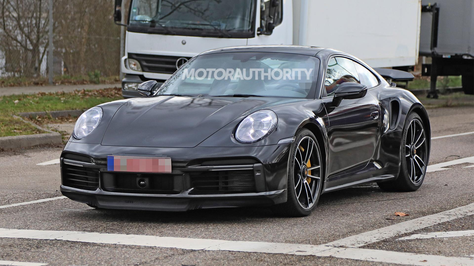 2020 Porsche 911 Turbo spy shots - Photo credit: S. Baldauf/SB-Medien