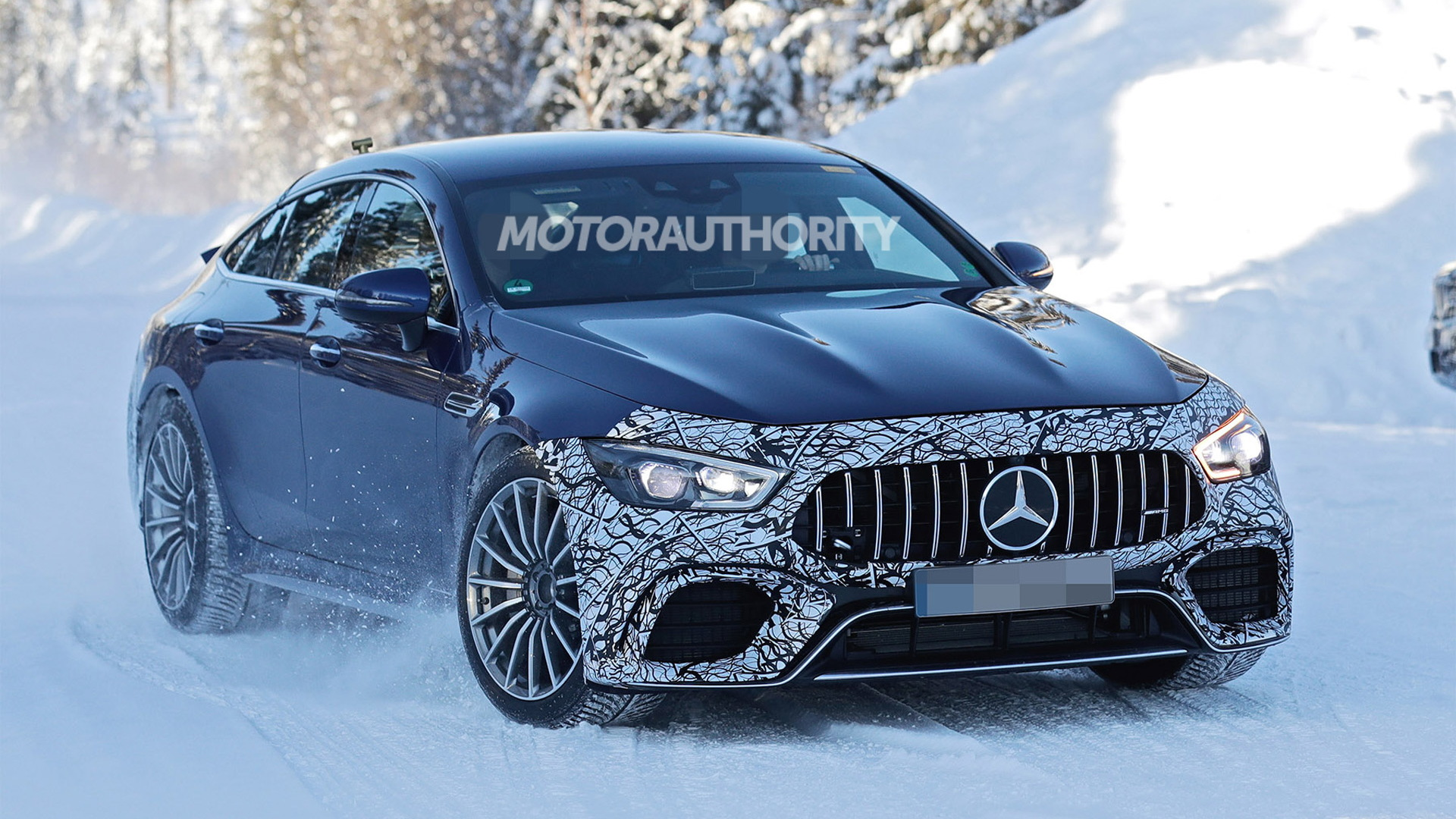 2021 Mercedes-AMG GT 73 EQ Performance 4-Door Coupe spy shots - Photo credit: S. Baldauf/SB-Medien
