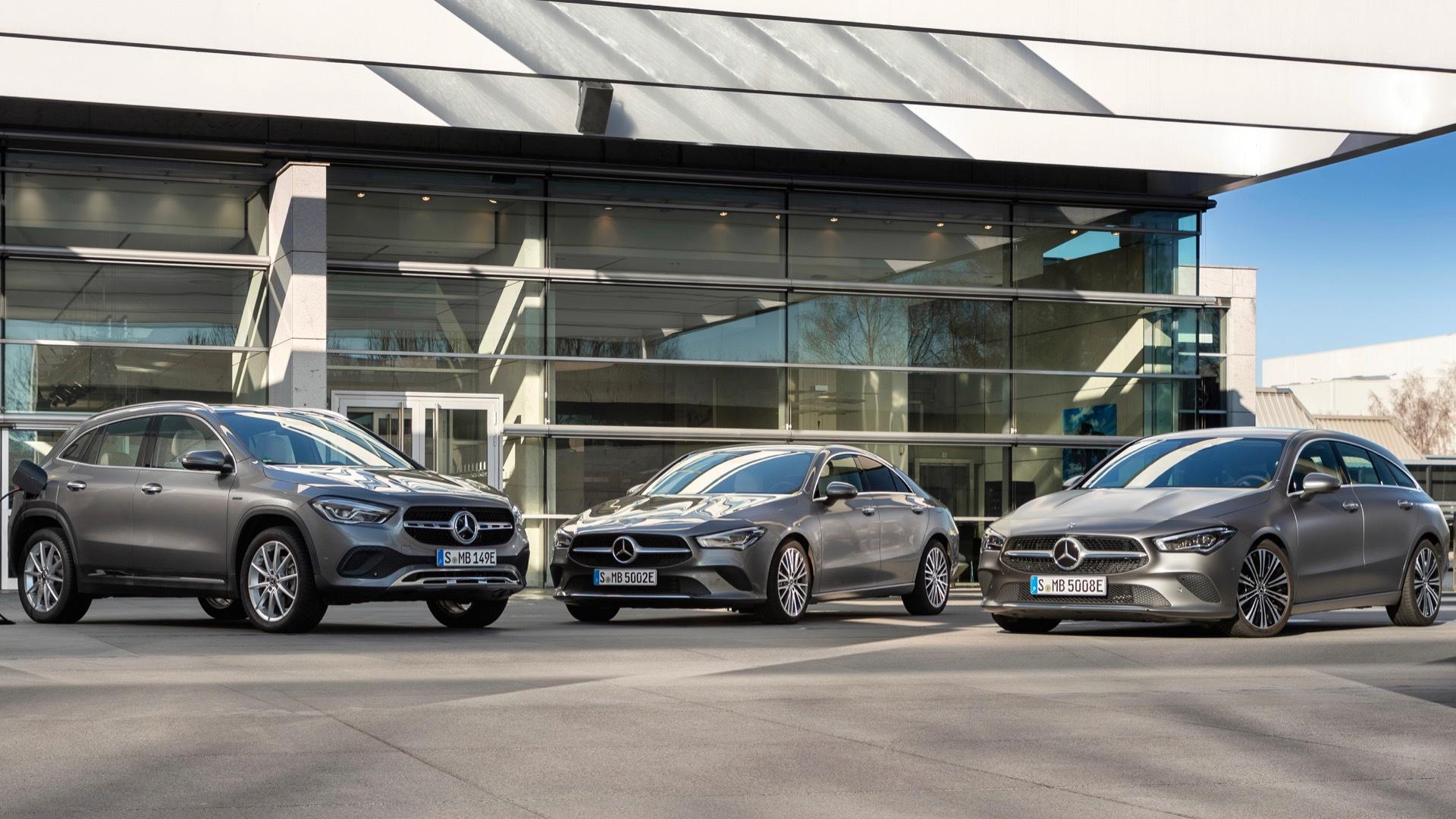Mercedes-Benz GLA250e, CLA250e, and CLA250e Shooting Brake