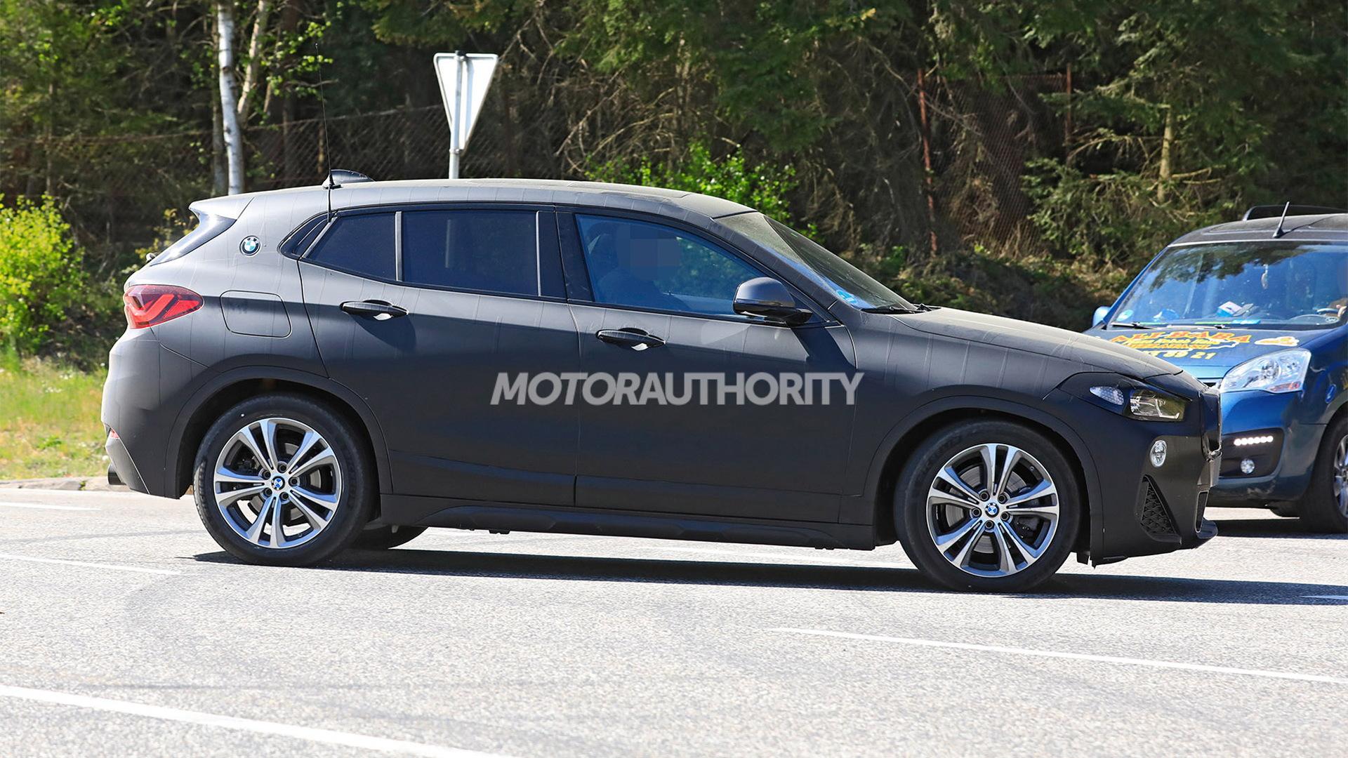 2022 BMW X2 facelift spy shots - Photo credit:S. Baldauf/SB-Medien
