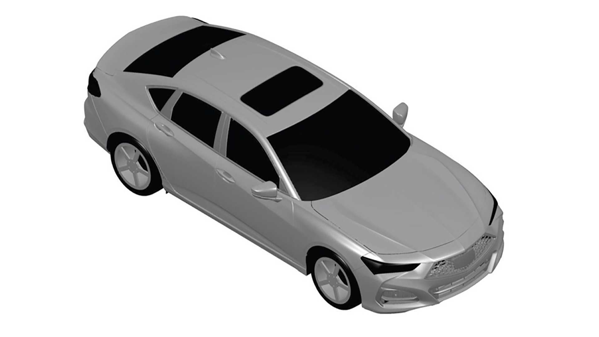 Alleged 2021 Acura TLX patent drawings - Photo credit: Worldscoop Forums