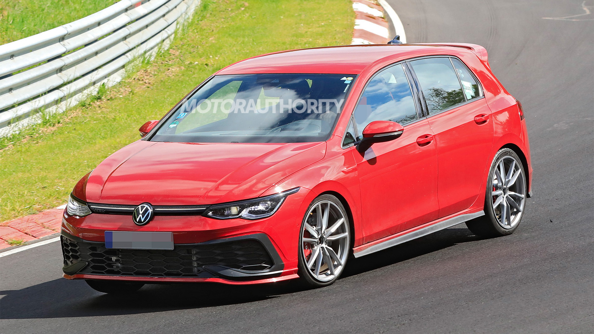 2022 Volkswagen Golf GTI TCR spy shots - Photo credit:S. Baldauf/SB-Medien
