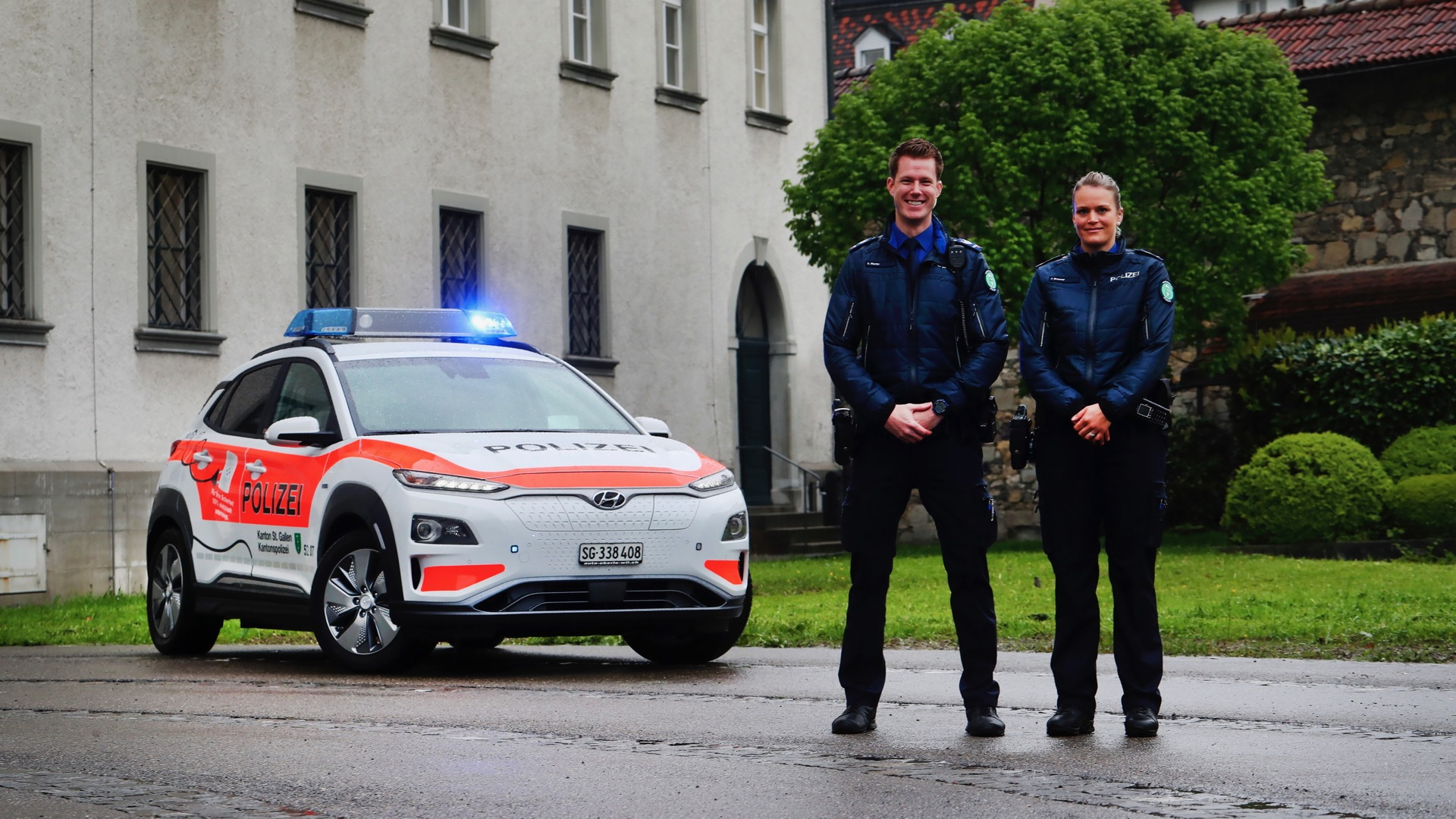 Hyundai Kona Electric police cars in Switzerland