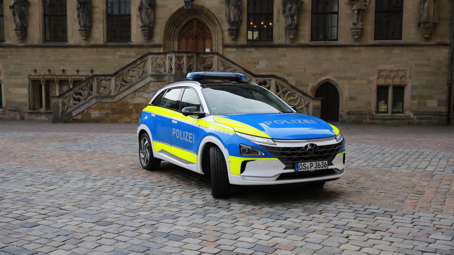 Hyundai Nexo police car