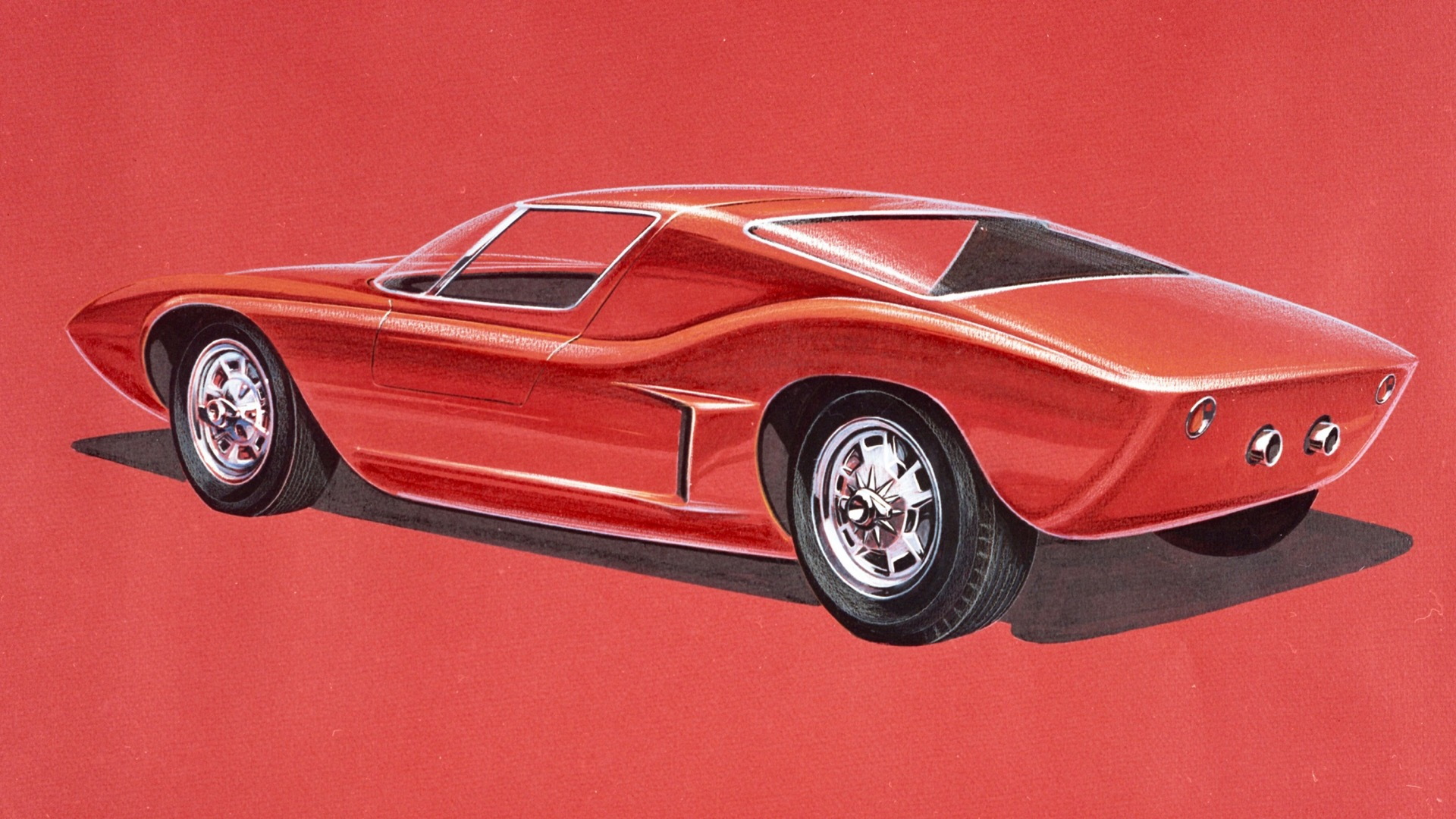 Ford GT40 early design sketch