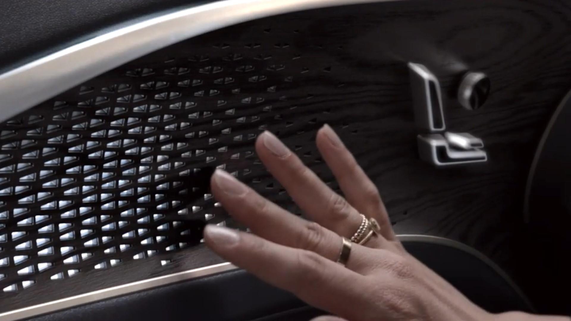 Cadillac Lyriq door trim  -  from teaser video, June 2020