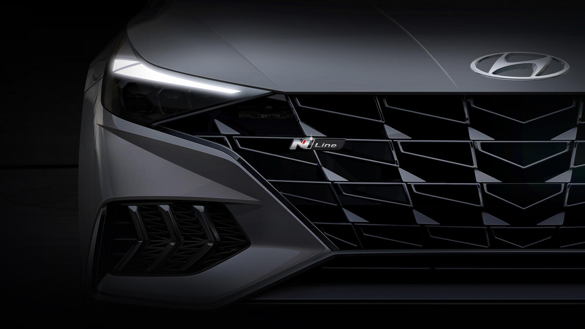 Teaser for 2021 Hyundai Elantra N Line