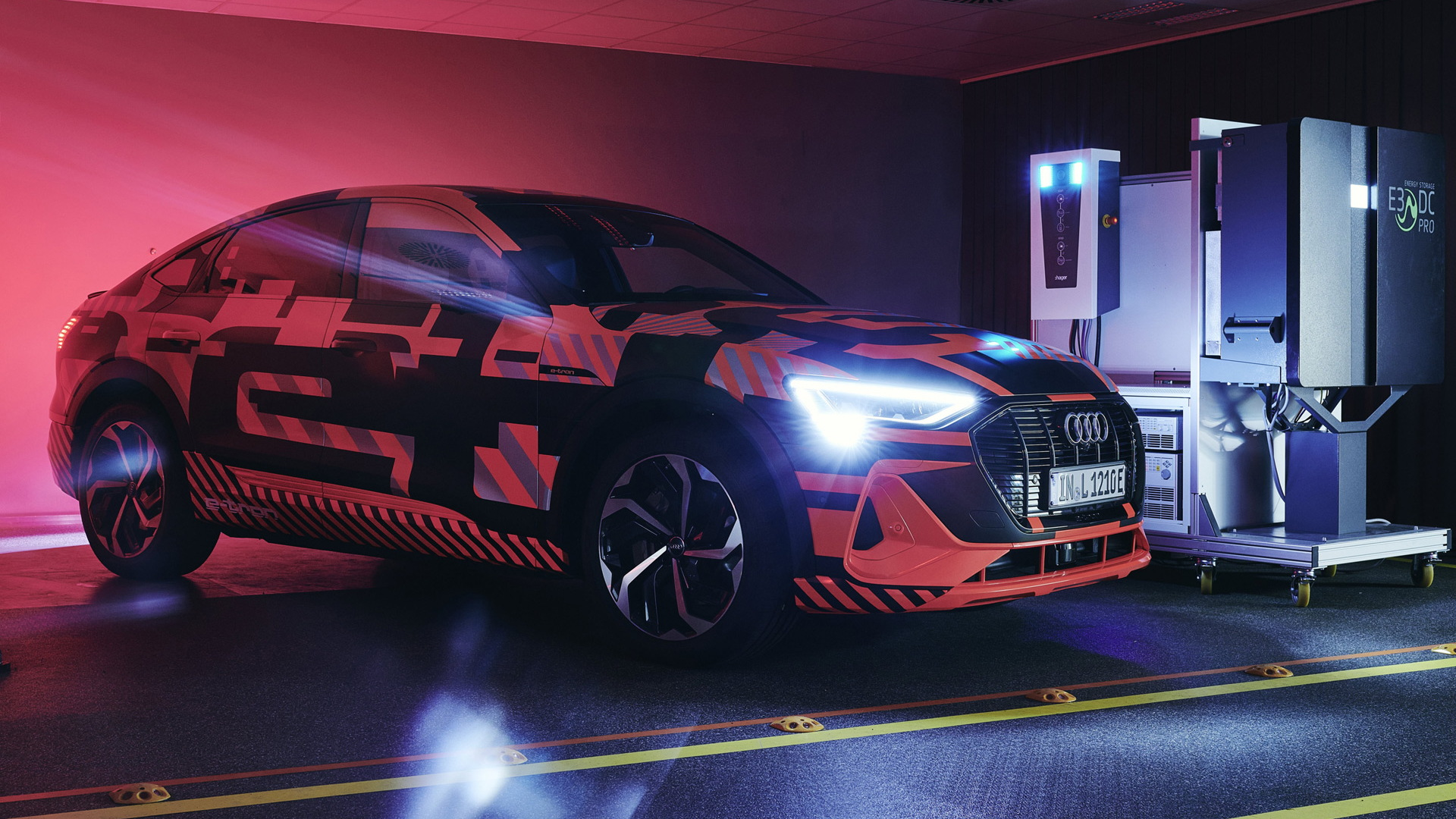 Audi E-Tron Sportback prototype with vehicle-to-grid charging capability