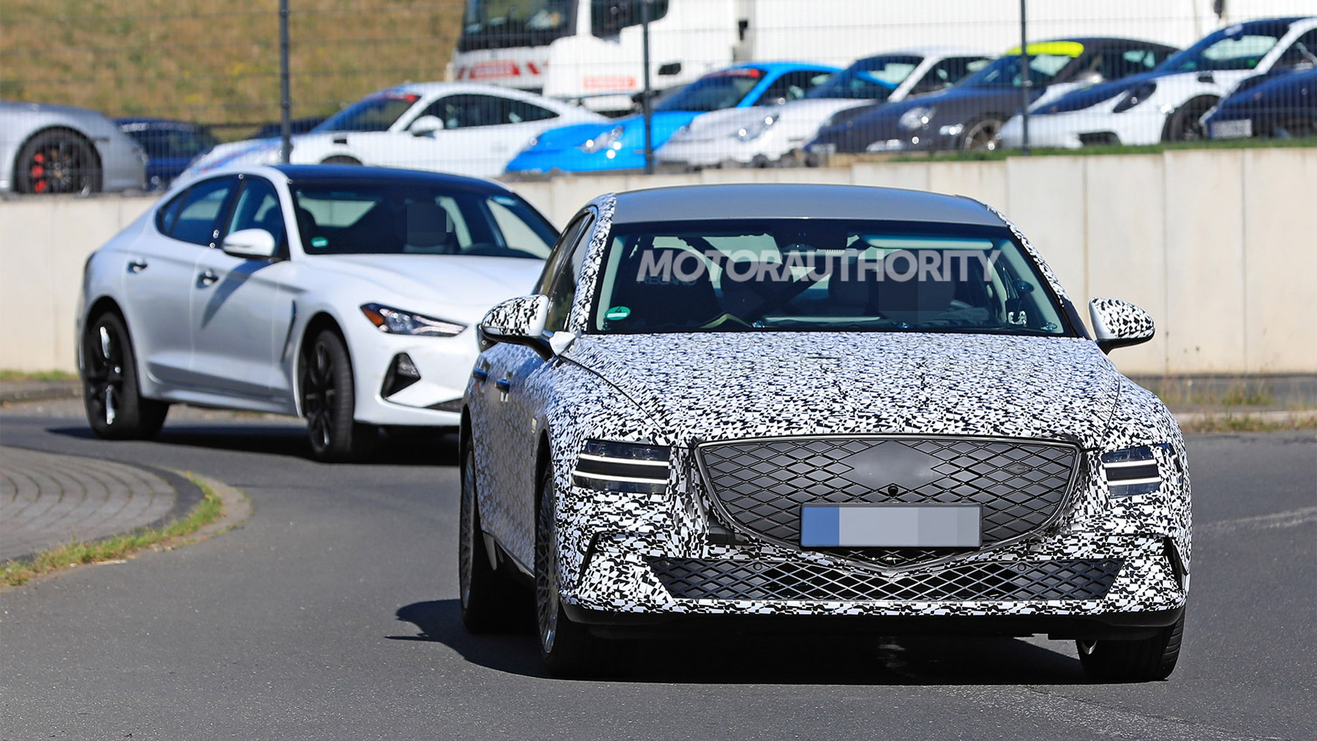 2022 Genesis eG80 spy shots - Photo credit: S. Baldauf/SB-Medien