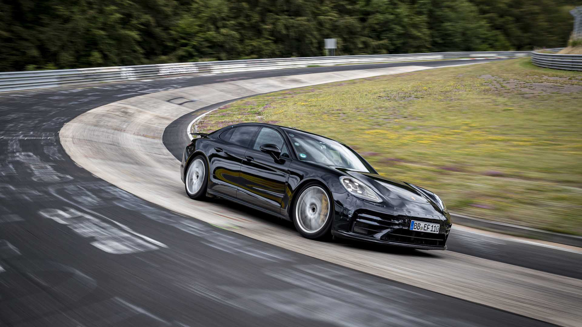 Porsche tester Lars Kern took the 2021 Panamera around the Nürburgring in 7:29.81 - August 2020