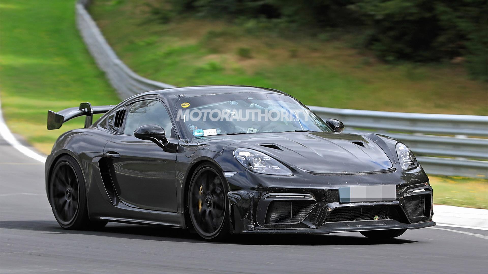 2021 Porsche 718 Cayman GT4 RS spy shots - Photo credit:S. Baldauf/SB-Medien