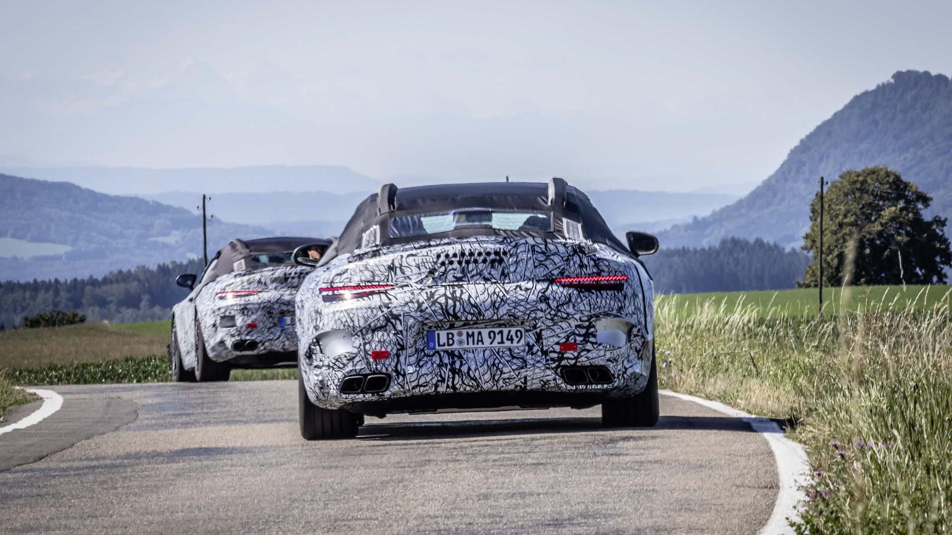 2022 Mercedes-AMG SL Roadster prototype