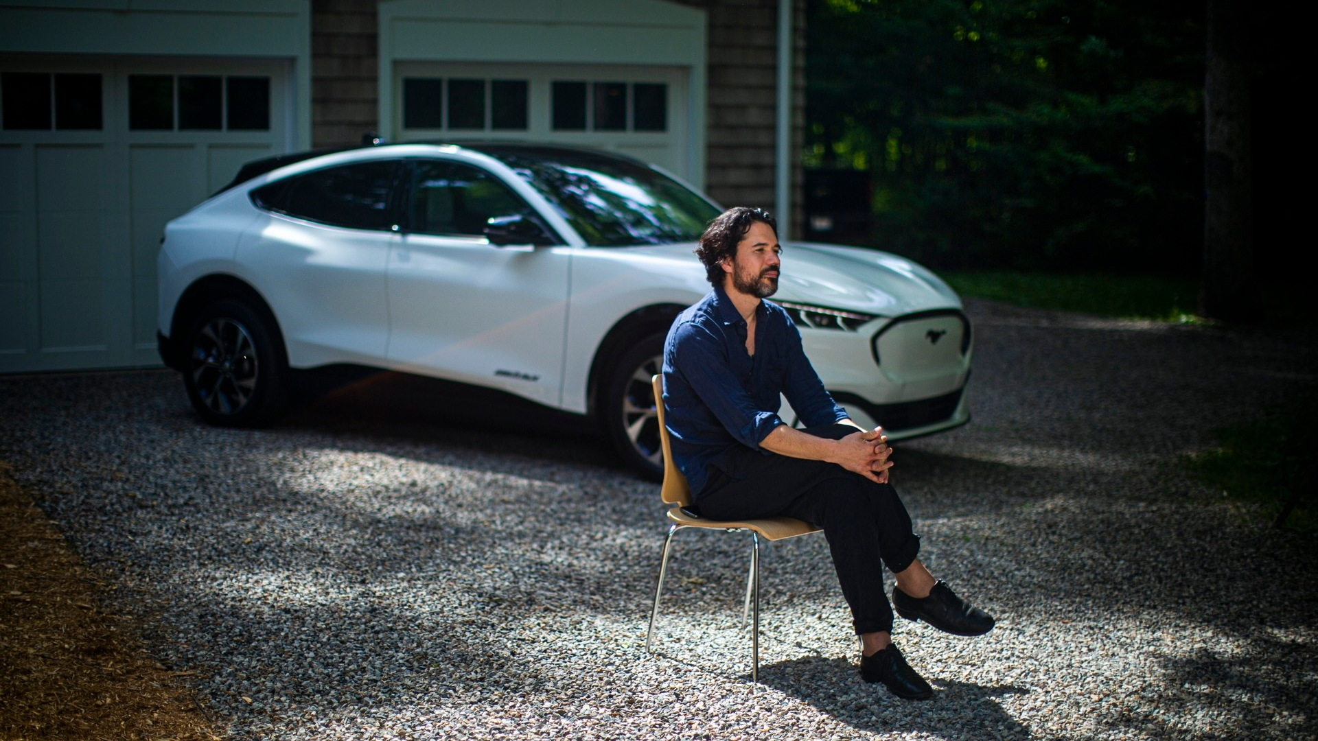 Musician Matthew Dear, with the Ford Mustang Mach-E