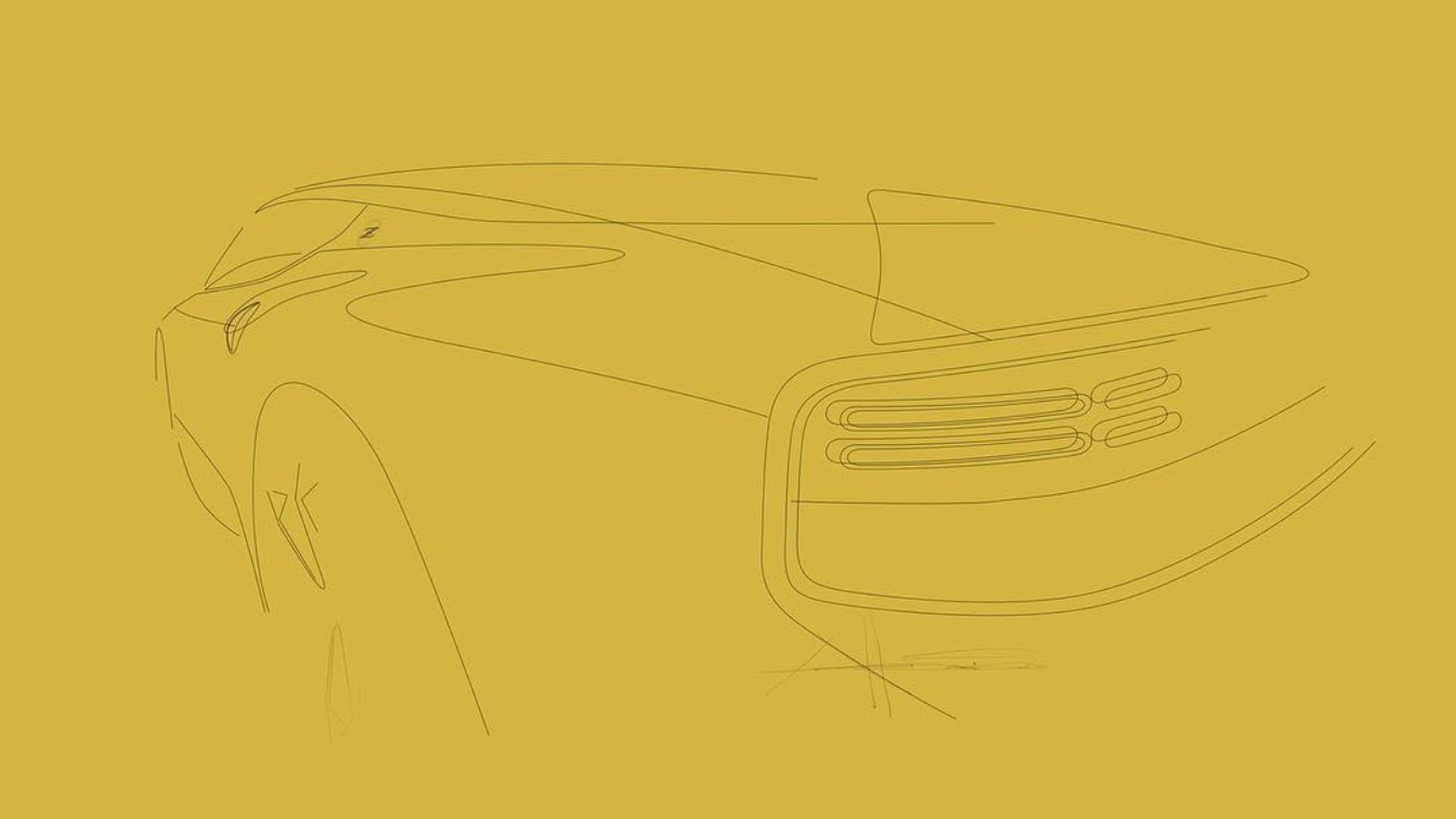 Teaser for Z35 Nissan Z sports car