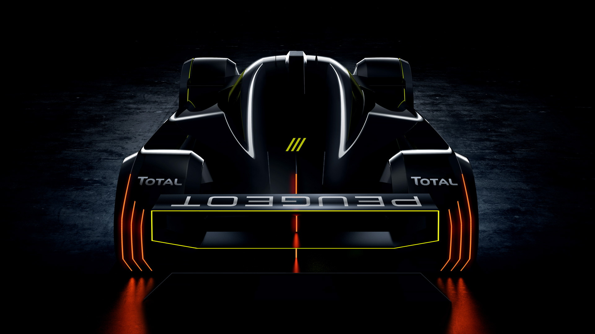 Teaser for 2022 Peugeot Le Mans Hypercar race car