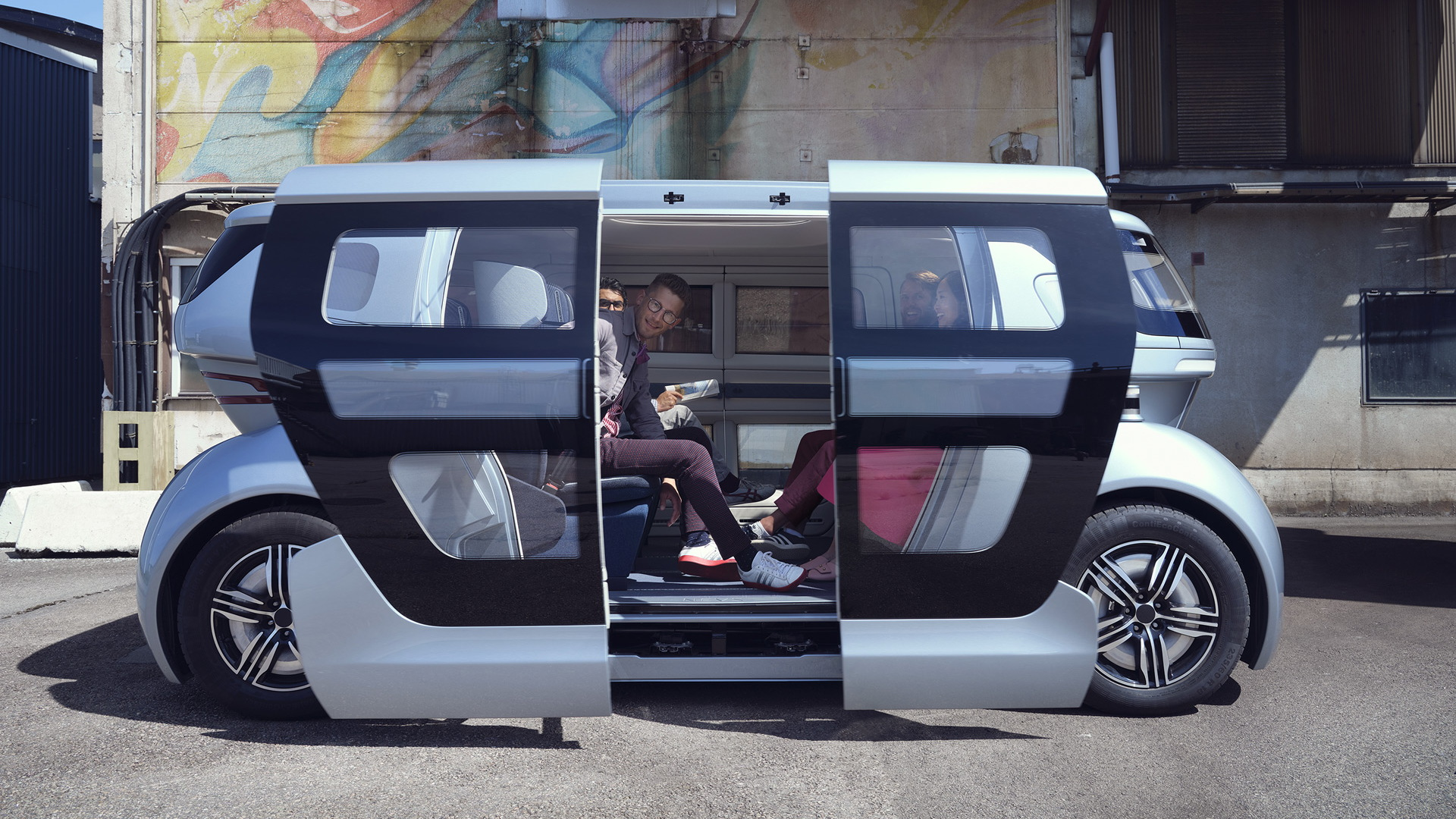 Sango self-driving car from NEVS's Pons mobility division