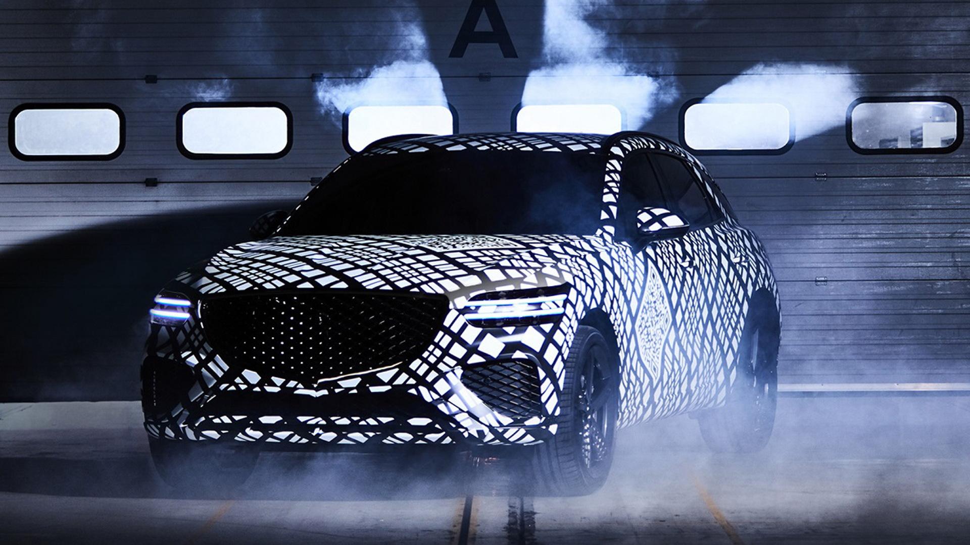 Teaser for Genesis GV70 debuting in 2021