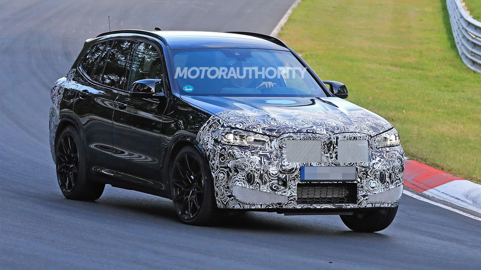 2022 BMW X3 M facelift spy shots - Photo credit:S. Baldauf/SB-Medien