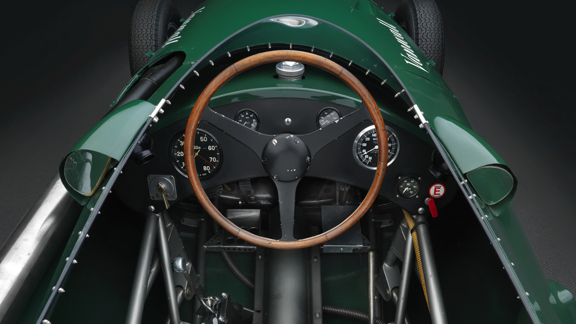 Continuation example of 1958 Vanwall VW5 Formula One race car