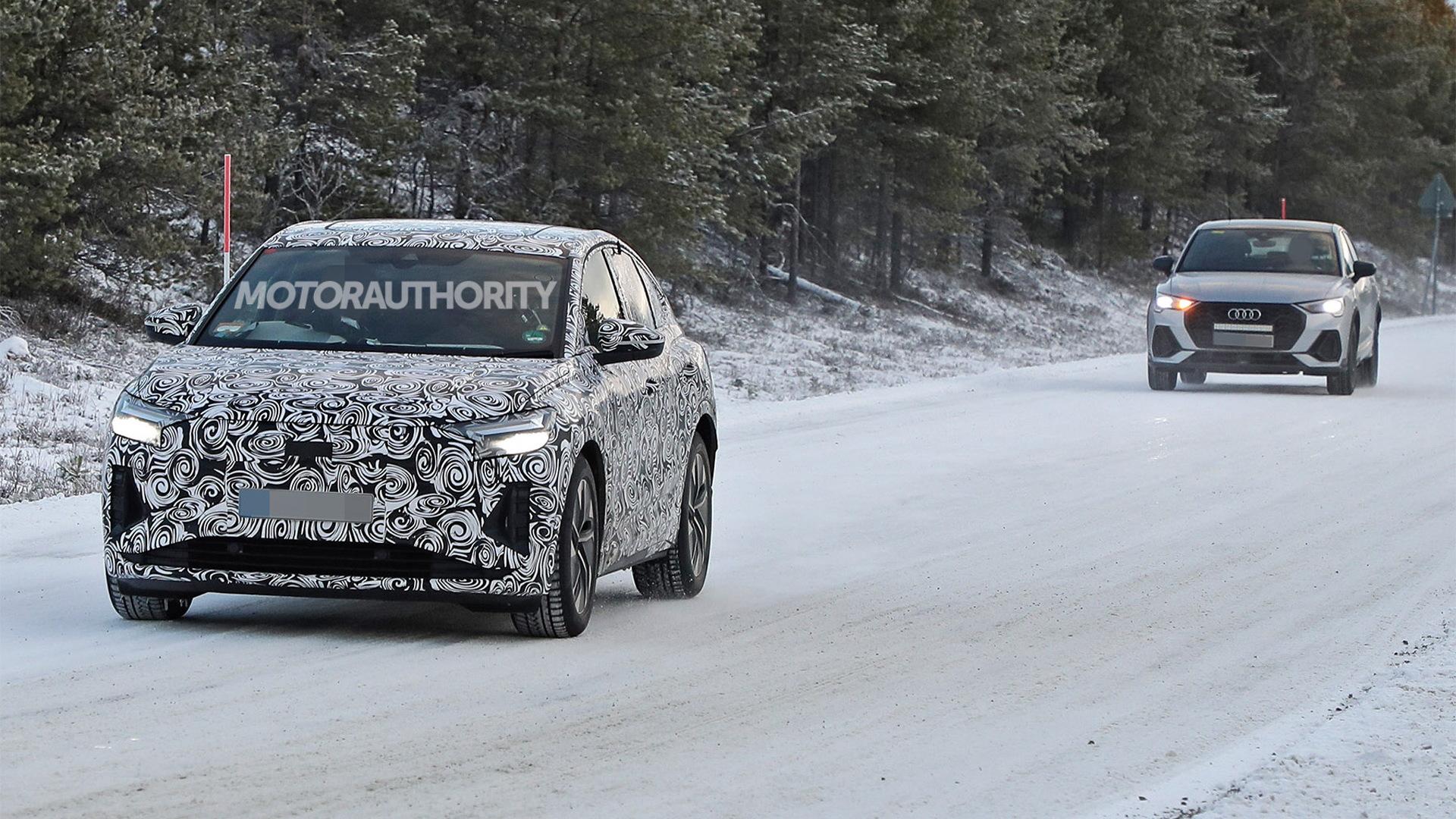 2022 Audi Q4 Sportback E-Tron spy shots - Photo credit: S. Baldauf/SB-Medien