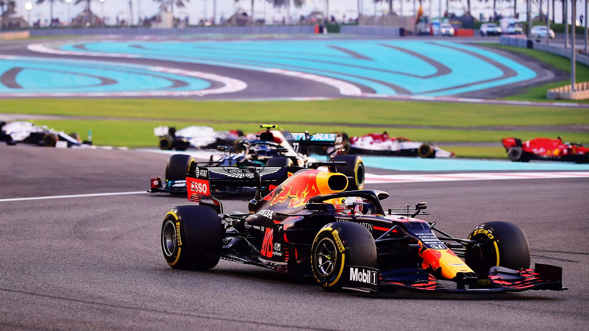 Red Bull Racing's Max Verstappen at the 2020 Formula One Abu Dhabi Grand Prix
