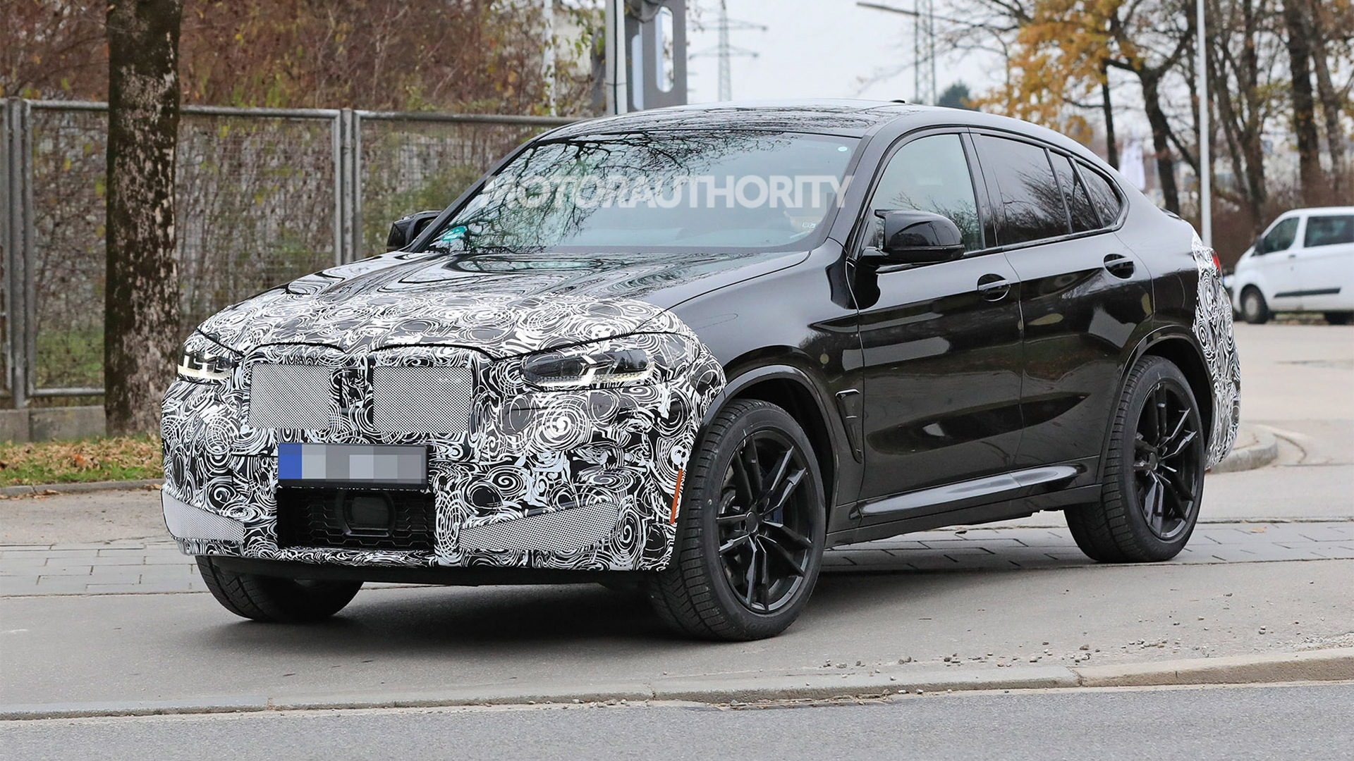 2022 BMW X4 M facelift spy shots - Photo credit: S. Baldauf/SB-Medien
