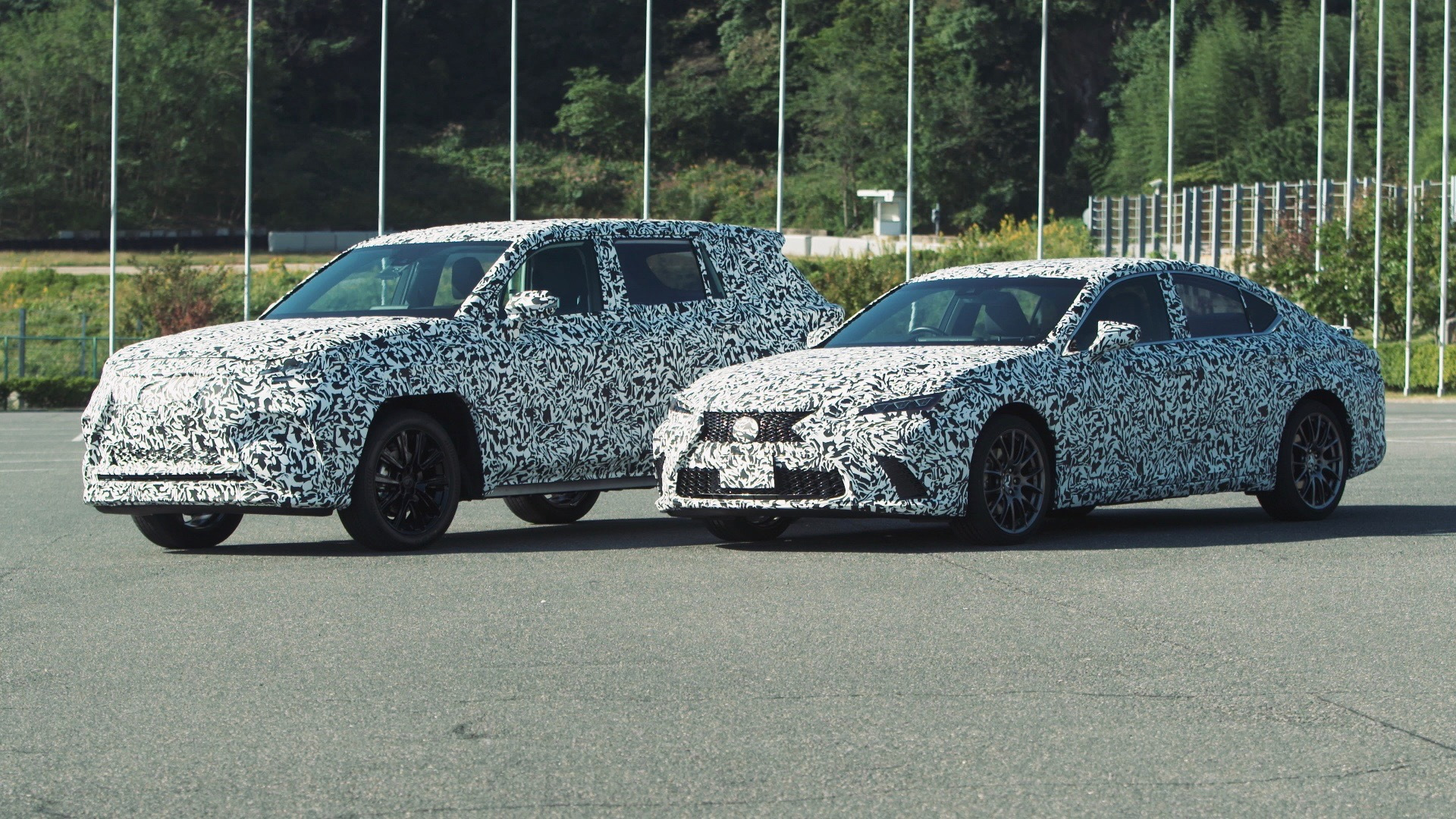 Lexus DIRECT4 all-wheel drive system development mules