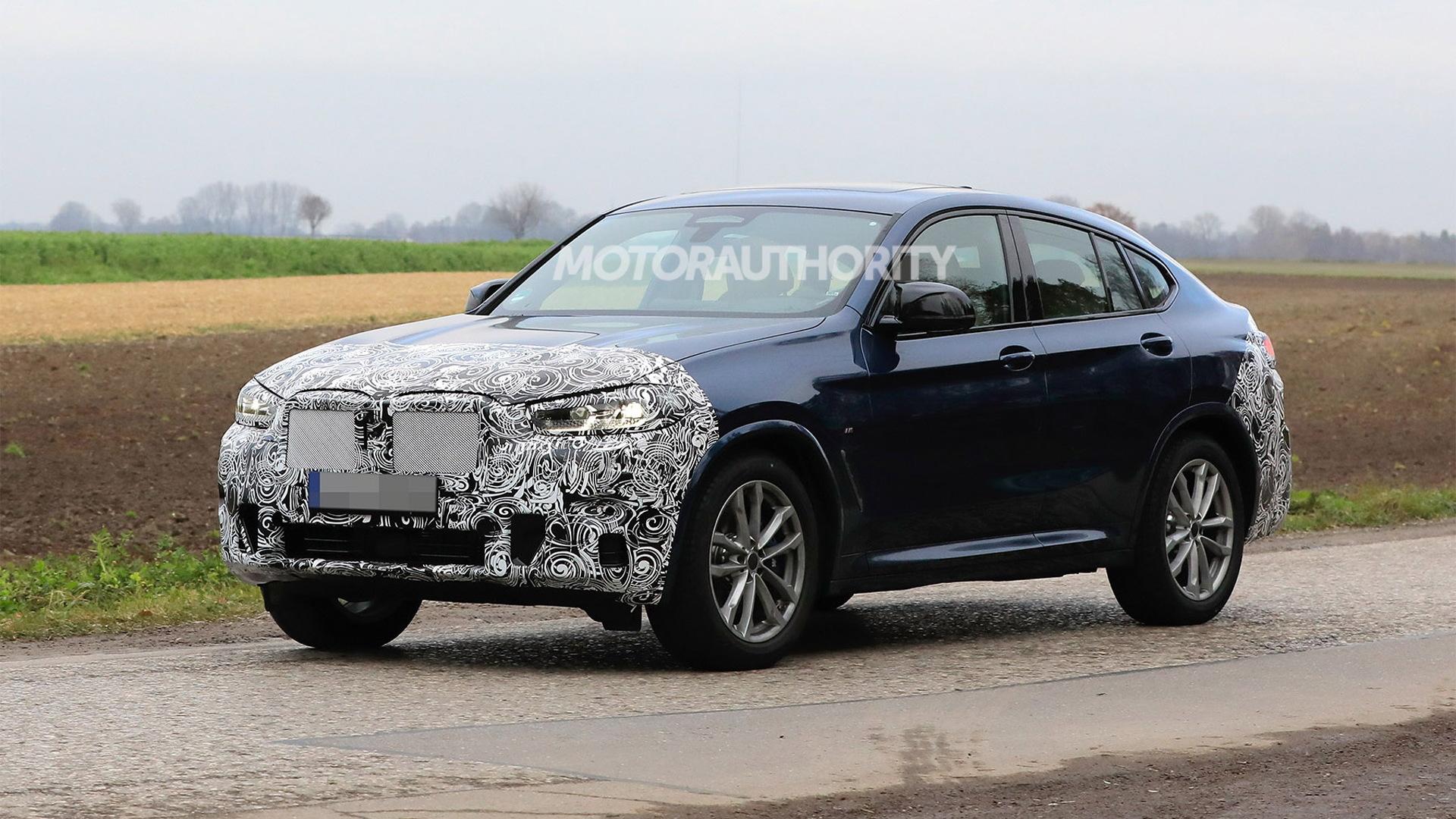 2022 BMW X4 facelift spy shots - Photo credit:S. Baldauf/SB-Medien