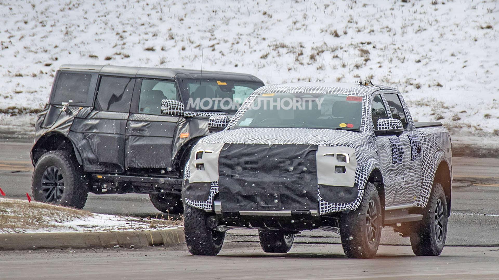 2022 Ford Ranger Raptor spy shots - Photo credit:S. Baldauf/SB-Medien