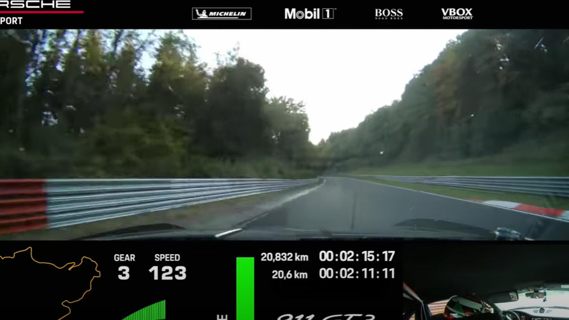 2022 Porsche 911 GT3 Nürburgring lap time attempt