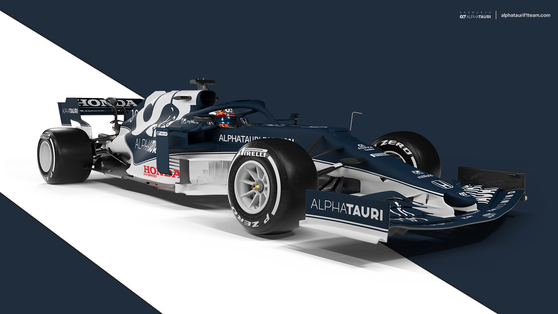 2021 AlphaTauri AT02 Formula One race car