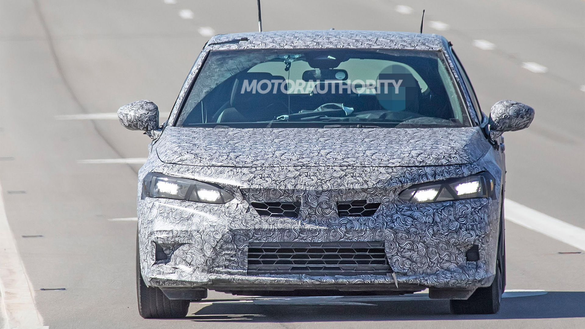 2022 Honda Civic Hatchback spy shots - Photo credit: S. Baldauf/SB-Medien