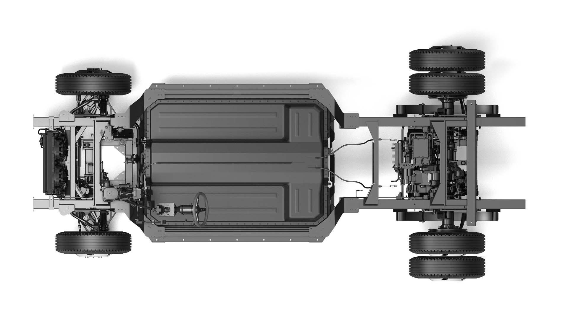 Bollinger Chass-E dually rear-wheel drive
