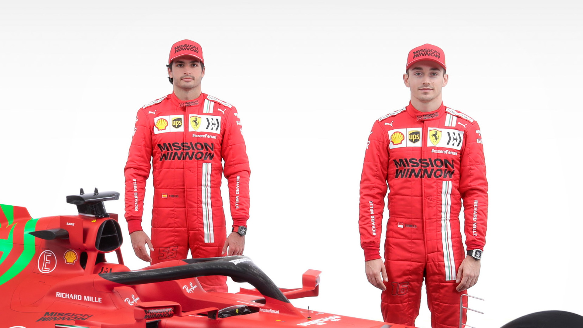Carlos Sainz (left) and Charles Leclerc