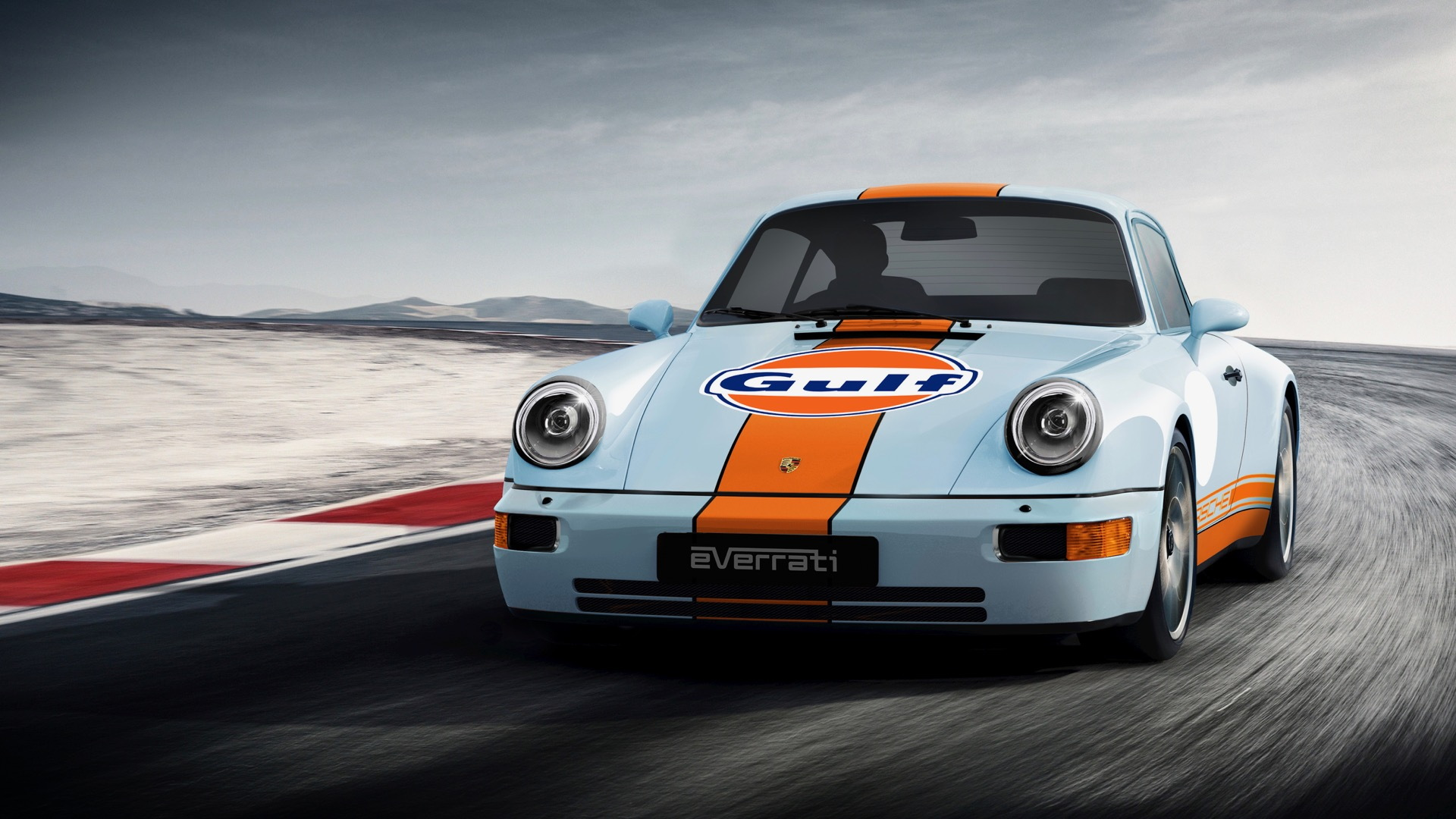 Everrati Gulf Signature Porsche 911 electric conversion