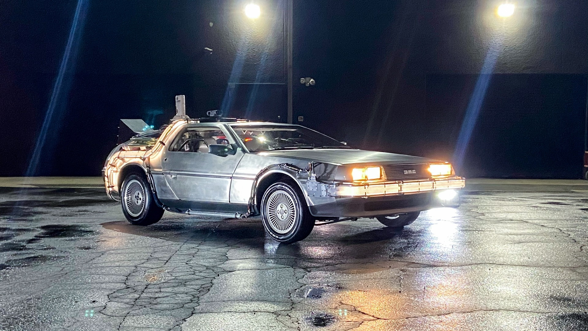 """Back to the Future"" DeLorean time machine replica (Photo by Charitybuzz)"